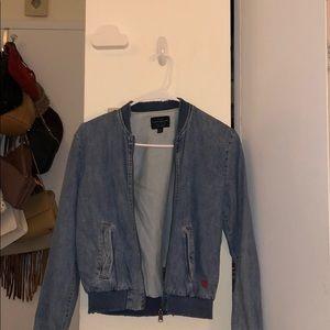 Lucky Brand Jean Bomber Jacket